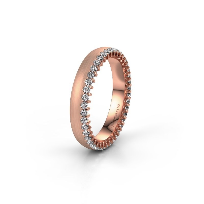 Trouwring WH2138L24B 375 rosé goud lab-grown diamant ±4x2 mm