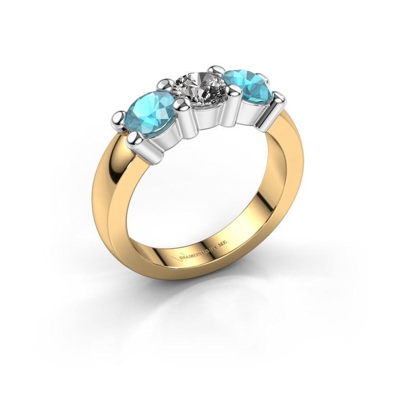 Verlobungsring Yasmin 3 585 Gold Diamant 0.50 crt
