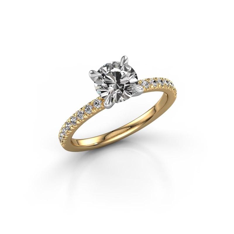 Verlobungsring Crystal rnd 2 585 Gold Diamant 1.24 crt