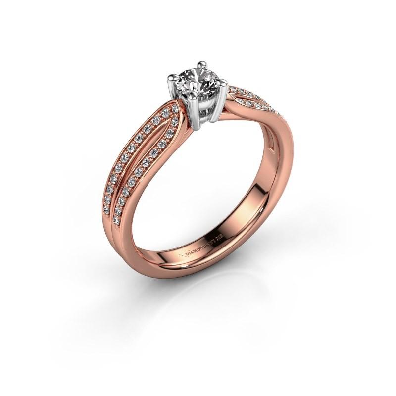 Bague de fiançailles Antonia 2 585 or rose diamant 0.48 crt