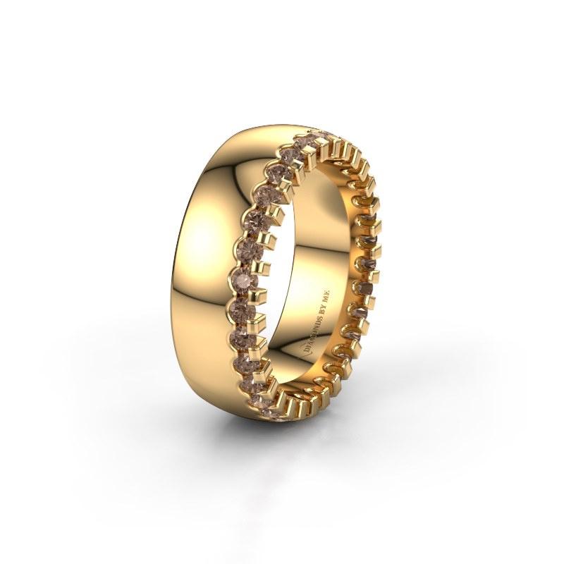 Ehering WH6120L27C 585 Gold Braun Diamant ±7x2.2 mm