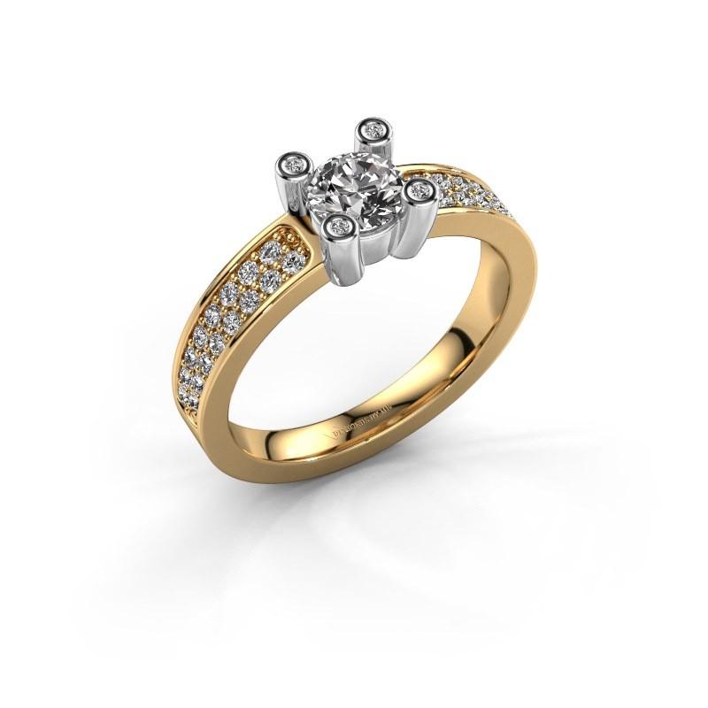 Verlovingsring Florance 585 goud diamant 0.80 crt