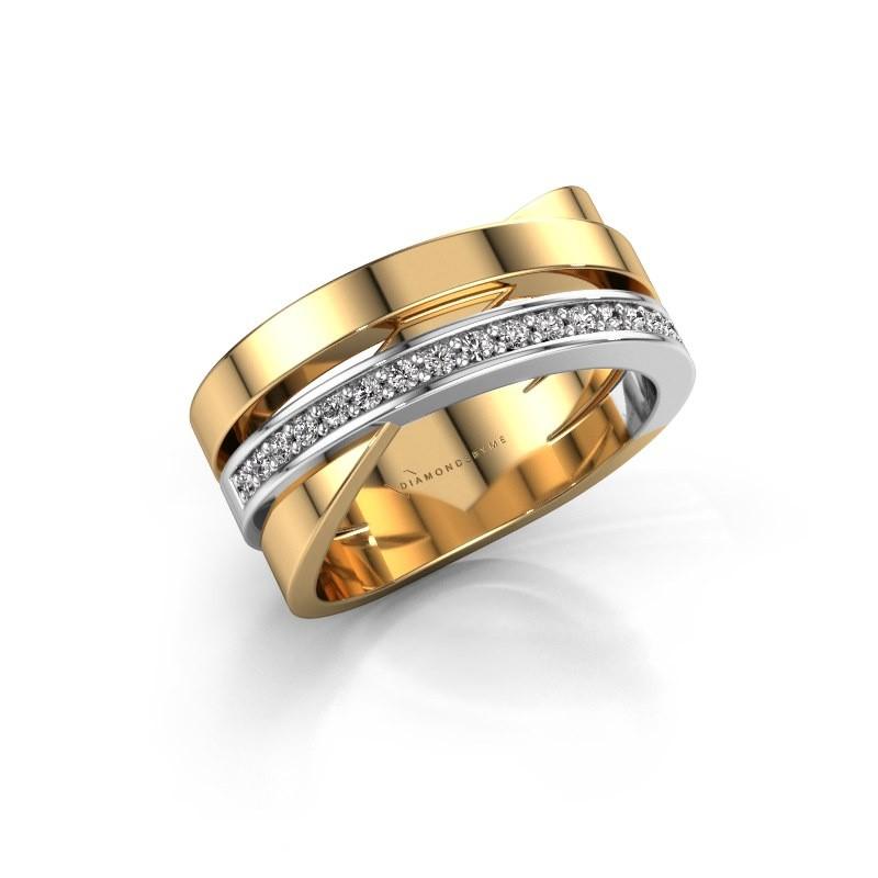 Ring Yolando 585 goud diamant 0.16 crt