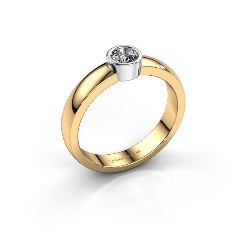 Ring Ise 1 585 goud diamant 0.25 crt