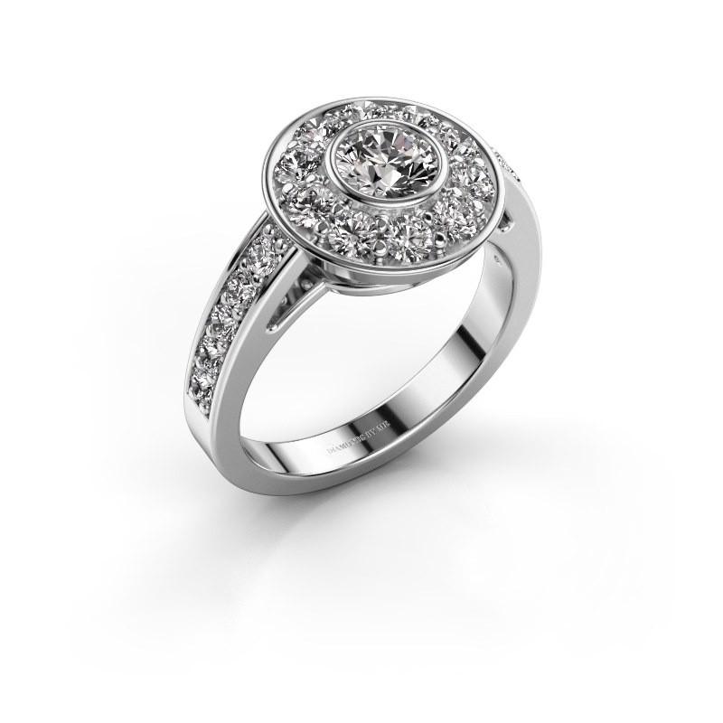 Verlobungsring Raven 2 585 Weißgold Diamant 1.35 crt