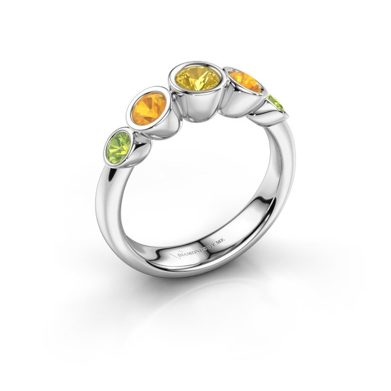 Ring Lizz 585 white gold yellow sapphire 4 mm