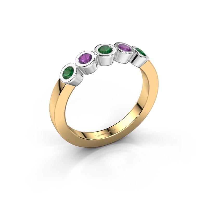 Ring Nova 585 gold emerald 3 mm