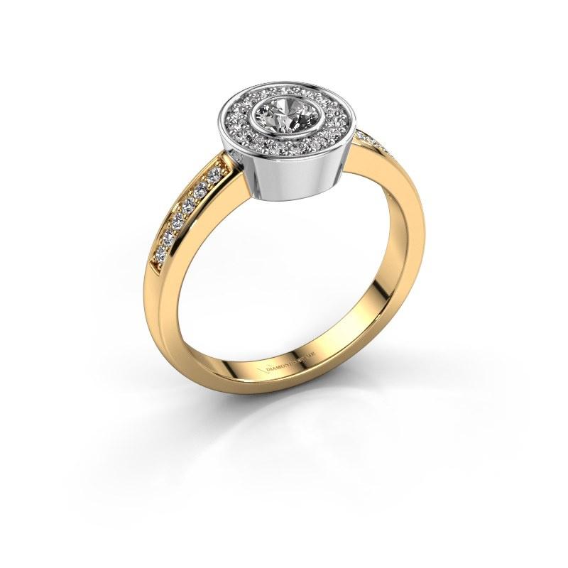 Ring Adriana 2 585 gold diamond 0.453 crt