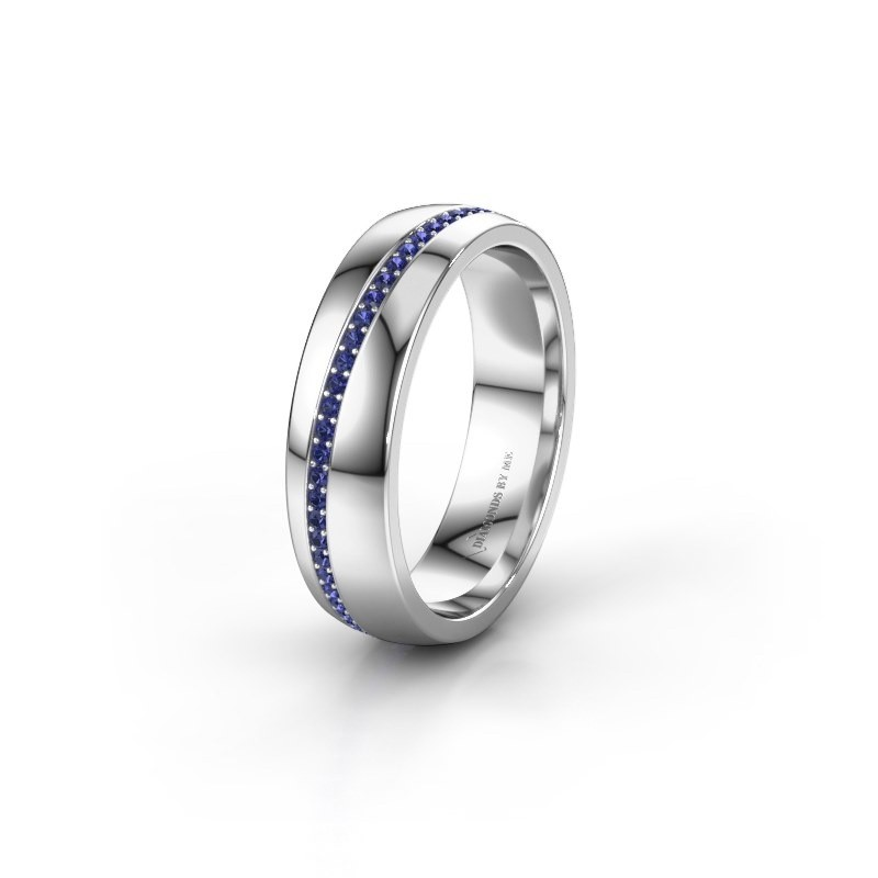 Wedding ring WH0109L25A 925 silver sapphire ±0.20x0.07 in