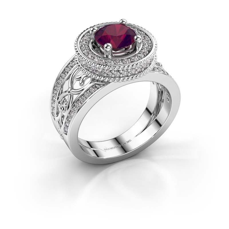 Ring Joy 950 platina rhodoliet 6.5 mm