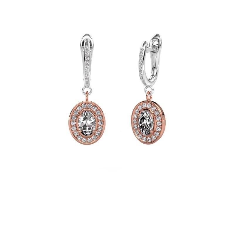Oorhangers Layne 2 585 rosé goud lab-grown diamant 1.99 crt