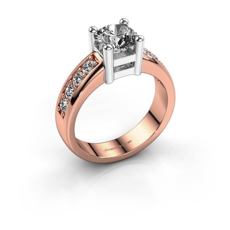 Bague de fiançailles Eline 2 585 or rose diamant 1.44 crt