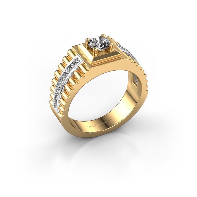 Men's ring Maikel 585 gold diamond 0.74 crt