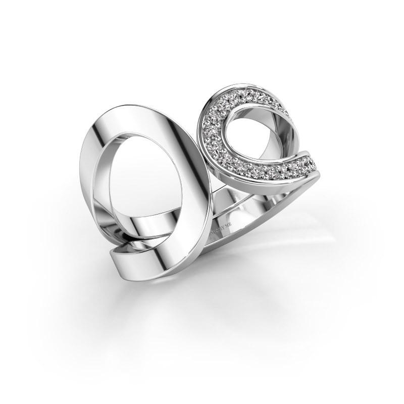 Ring Aniek 925 zilver zirkonia 1.3 mm