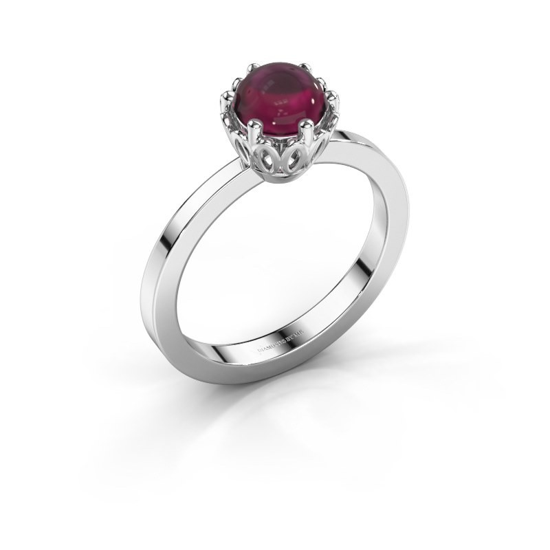 Ring Marly 925 zilver rhodoliet 6 mm