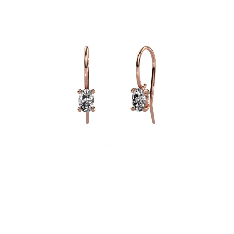 Oorhangers Cleo 375 rosé goud diamant 1.00 crt