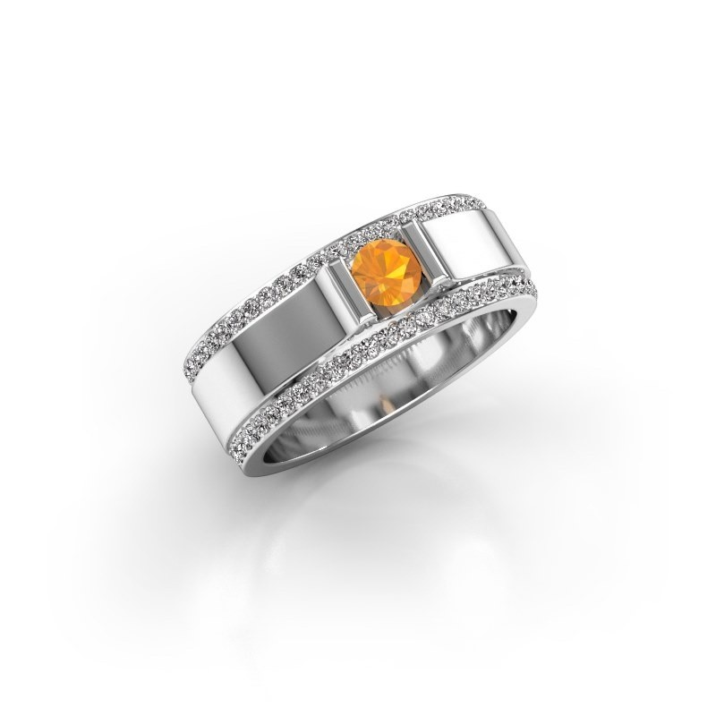 Men's ring Danillo 950 platinum citrin 4.2 mm