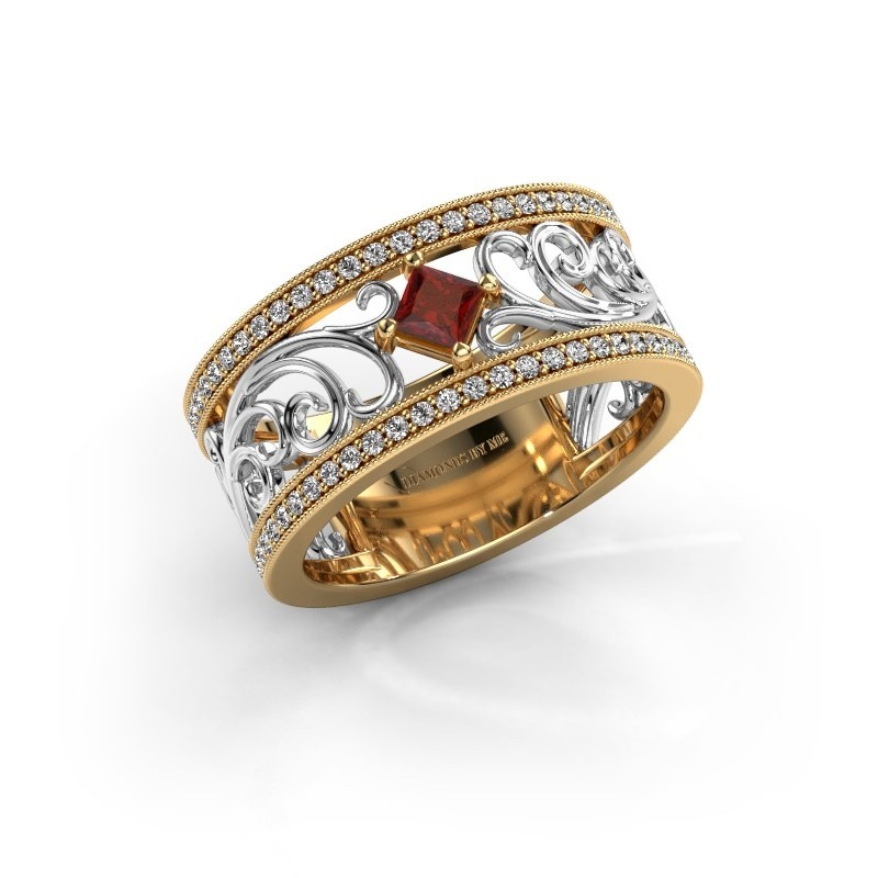 Ring Danae 585 goud granaat 3 mm