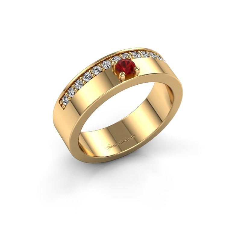 Ring Vicki 375 goud robijn 3 mm