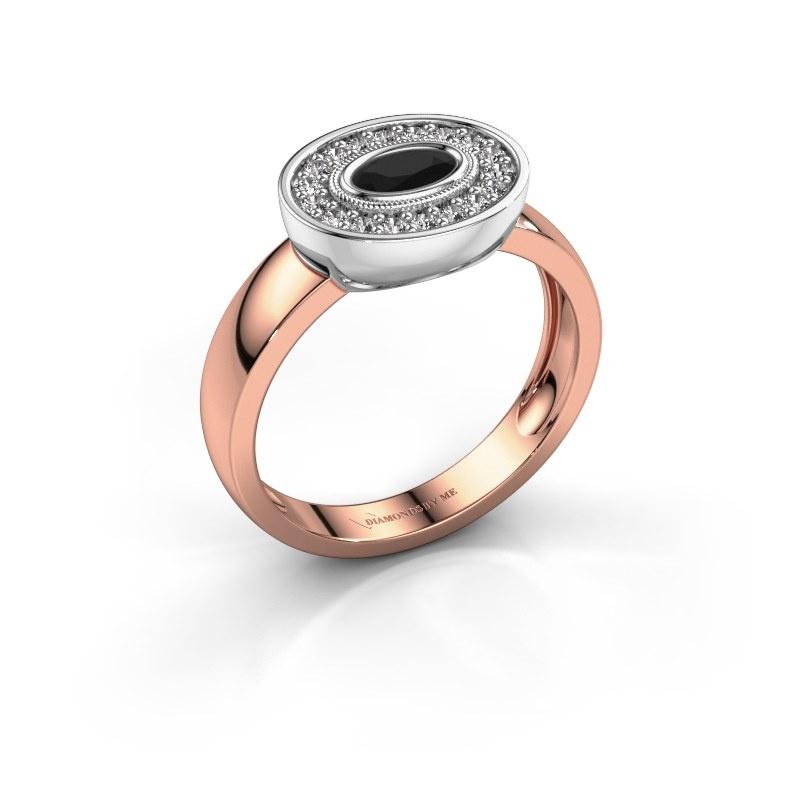 Ring Azra 585 Roségold Schwarz Diamant 0.456 crt