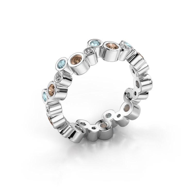 Ring Tessa 925 zilver bruine diamant 0.675 crt