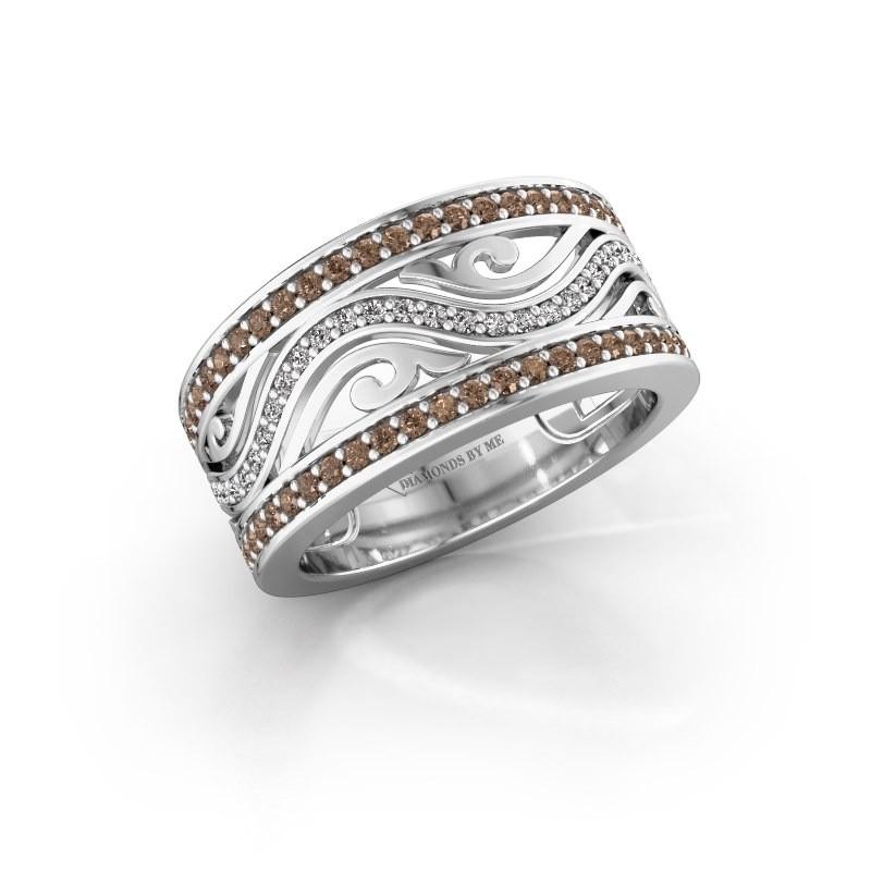 Bague Louvenia 925 argent diamant brun 0.72 crt