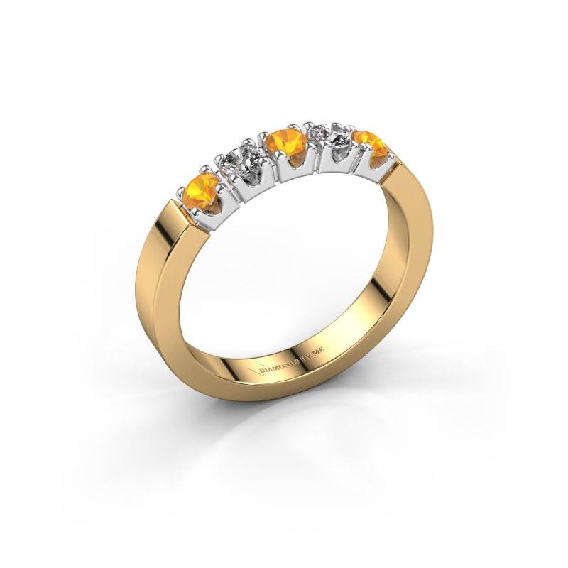 Engagement ring Dana 5 585 gold citrin 3 mm