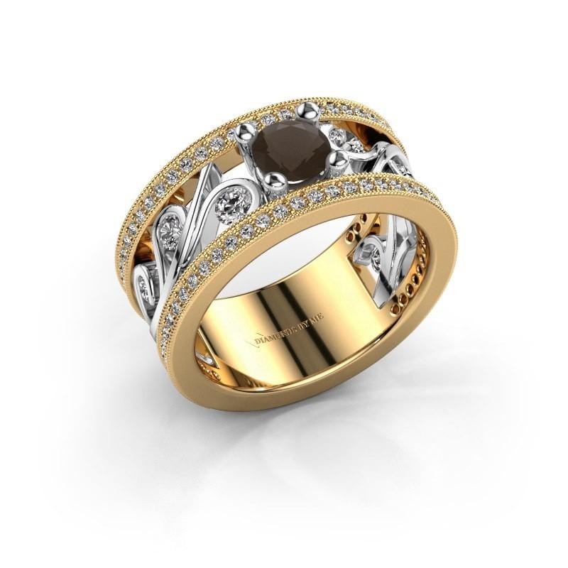 Ring Sanne 585 goud rookkwarts 5 mm