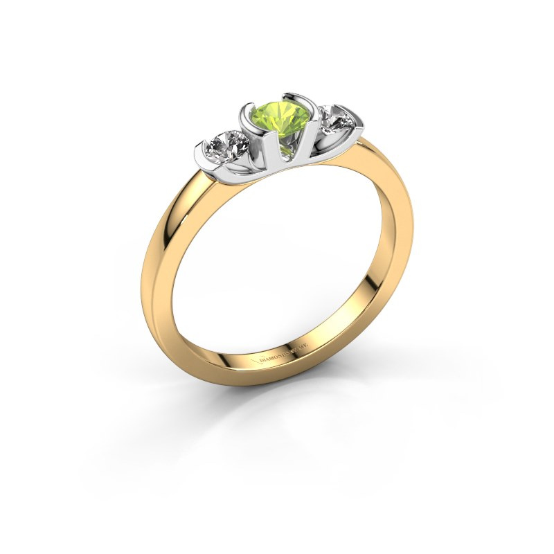 Ring Lucia 585 gold peridot 3.7 mm
