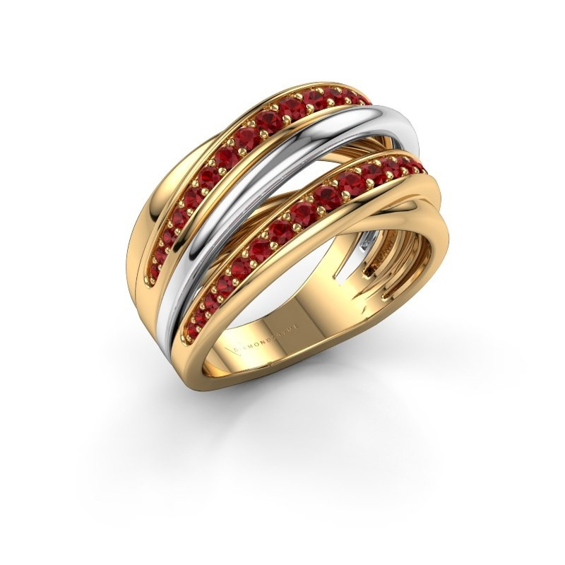 Ring Marylouise 2 585 goud robijn 1.2 mm