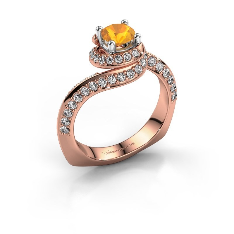 Engagement ring Sienna 585 rose gold citrin 5 mm