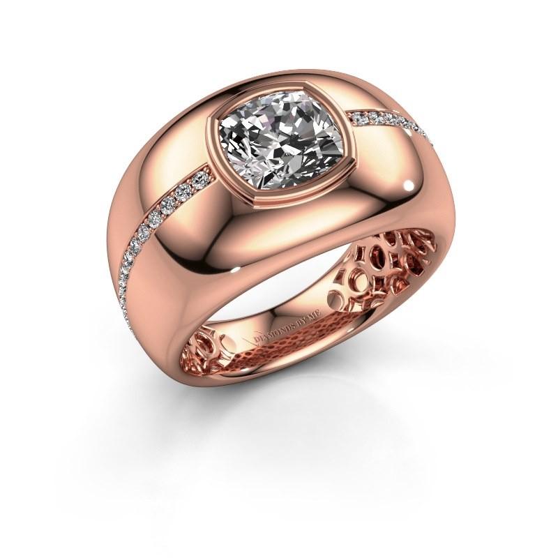 Ring Sydney 375 rosé goud diamant 3.21 crt