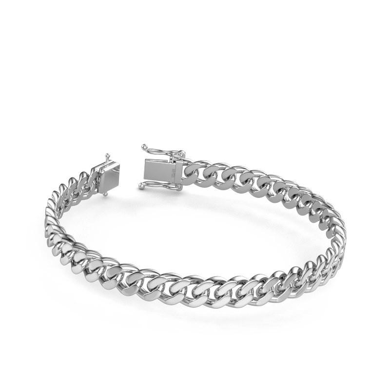 Cuban link armband ±8 mm 950 platina