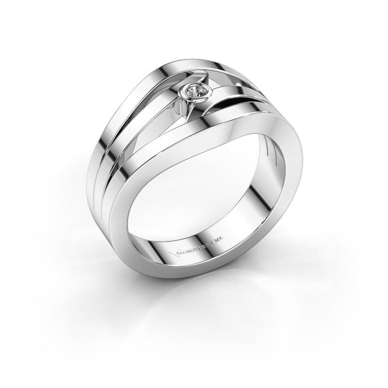 Ring Carlijn 585 Weißgold Diamant 0.03 crt