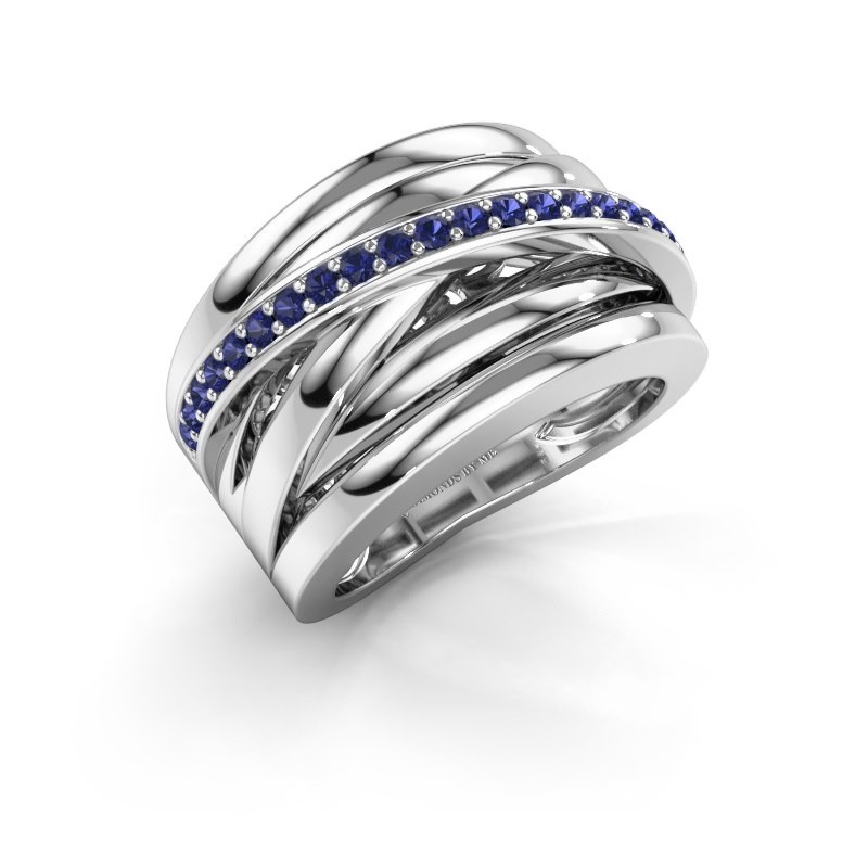 Ring Clair 1 585 witgoud saffier 1.5 mm