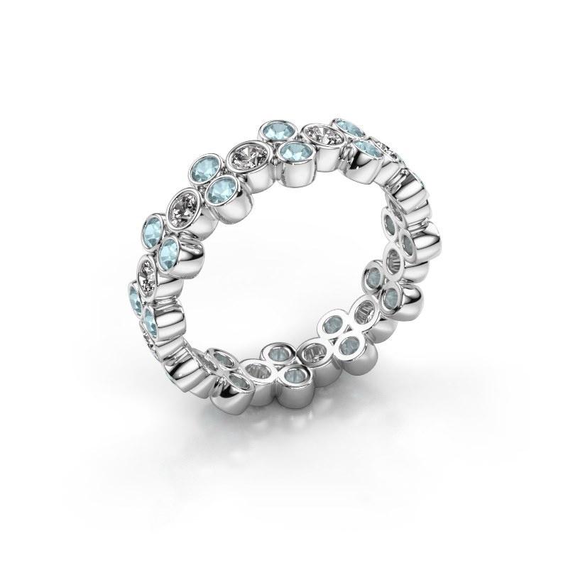 Bague Victoria 925 argent diamant 0.66 crt