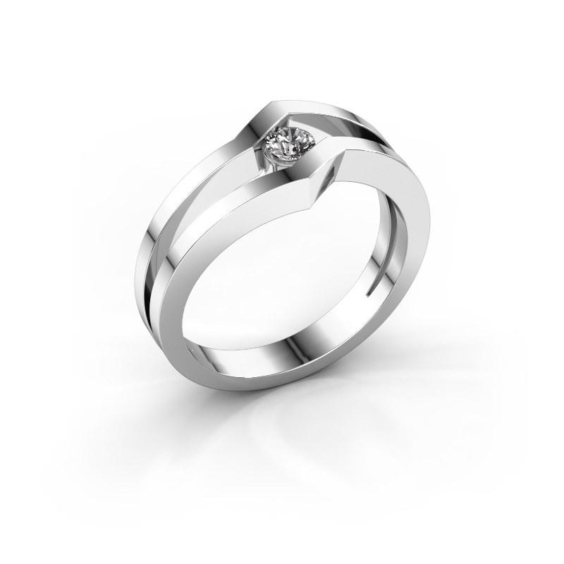 Ring Elize 585 white gold zirconia 3.4 mm