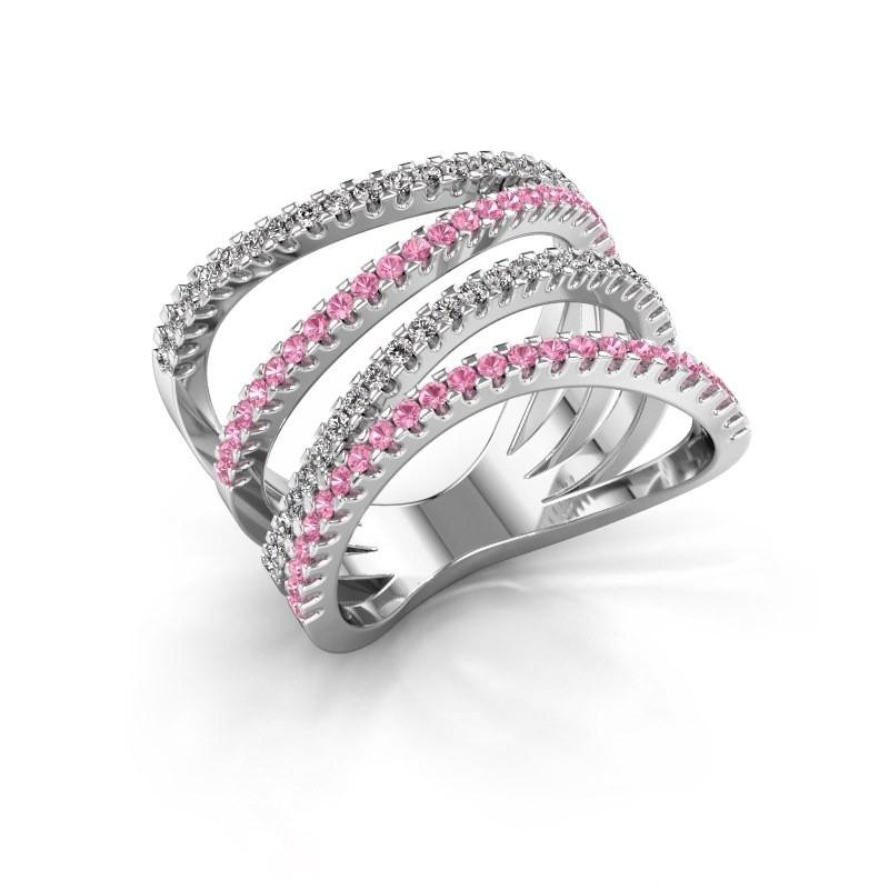 Ring Mitzi 950 Platin Pink Saphir 1.2 mm