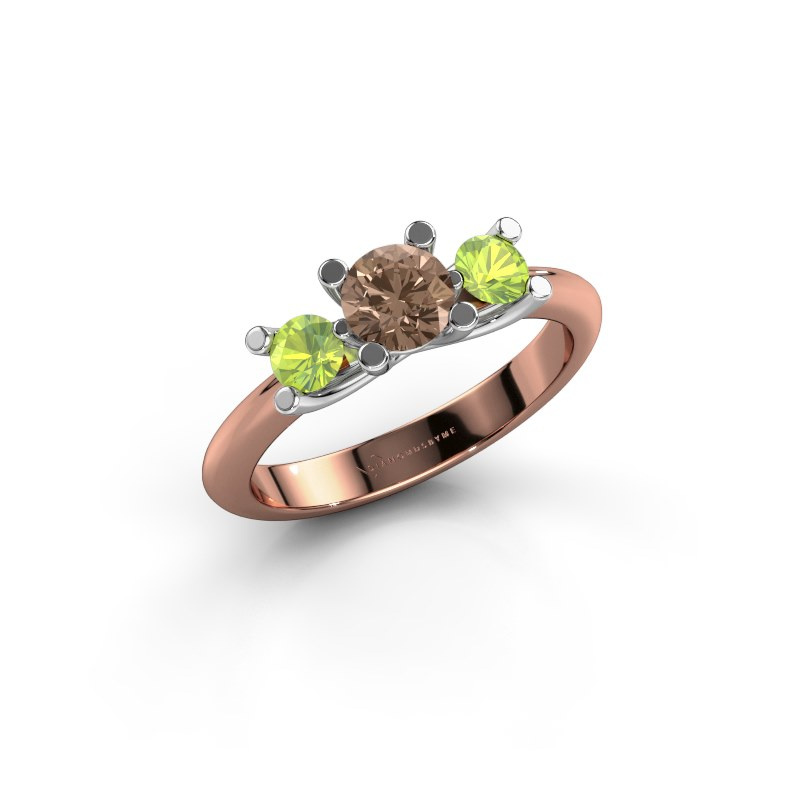 Ring Mirthe 585 rose gold brown diamond 0.50 crt