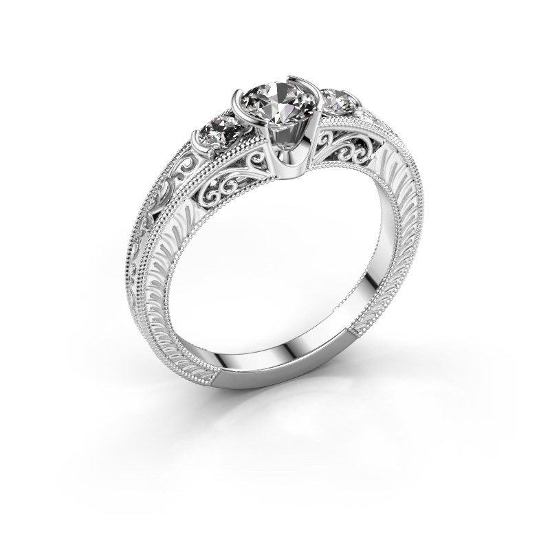 Promise ring Tasia 585 witgoud zirkonia 5 mm