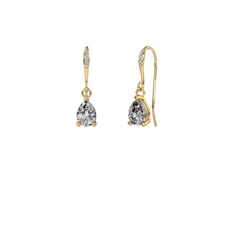 Drop earrings Laurie 2 585 gold lab grown diamond 0.65 crt
