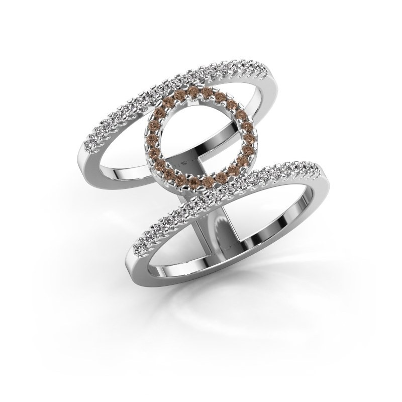 Ring Latoria 2 950 Platin Braun Diamant 0.402 crt