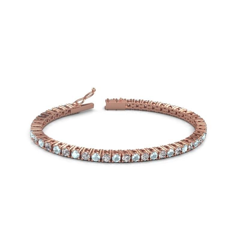 Tennisarmband Jenny 375 rosé goud zirkonia 3.5 mm