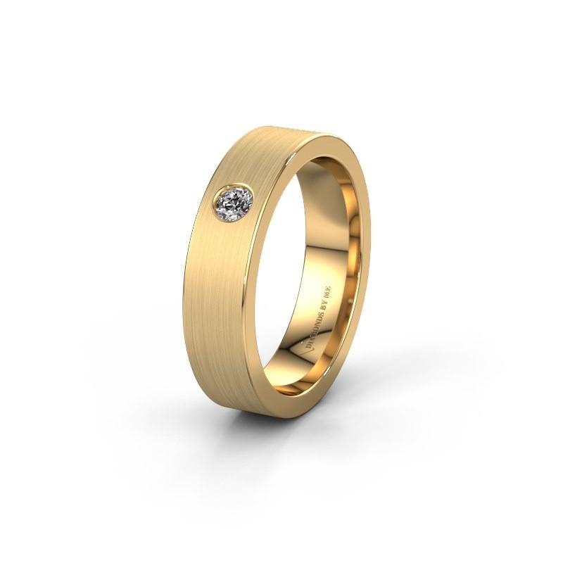 Trouwring WH0101L15BM 585 goud diamant ±5x2 mm