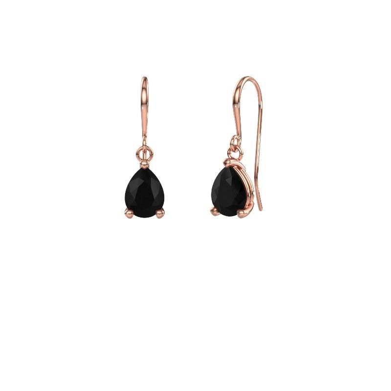 Oorhangers Laurie 1 375 rosé goud zwarte diamant 1.140 crt