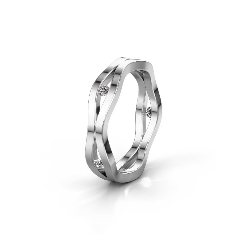 Trouwring WH2122L 925 zilver lab-grown diamant ±5x1.8 mm