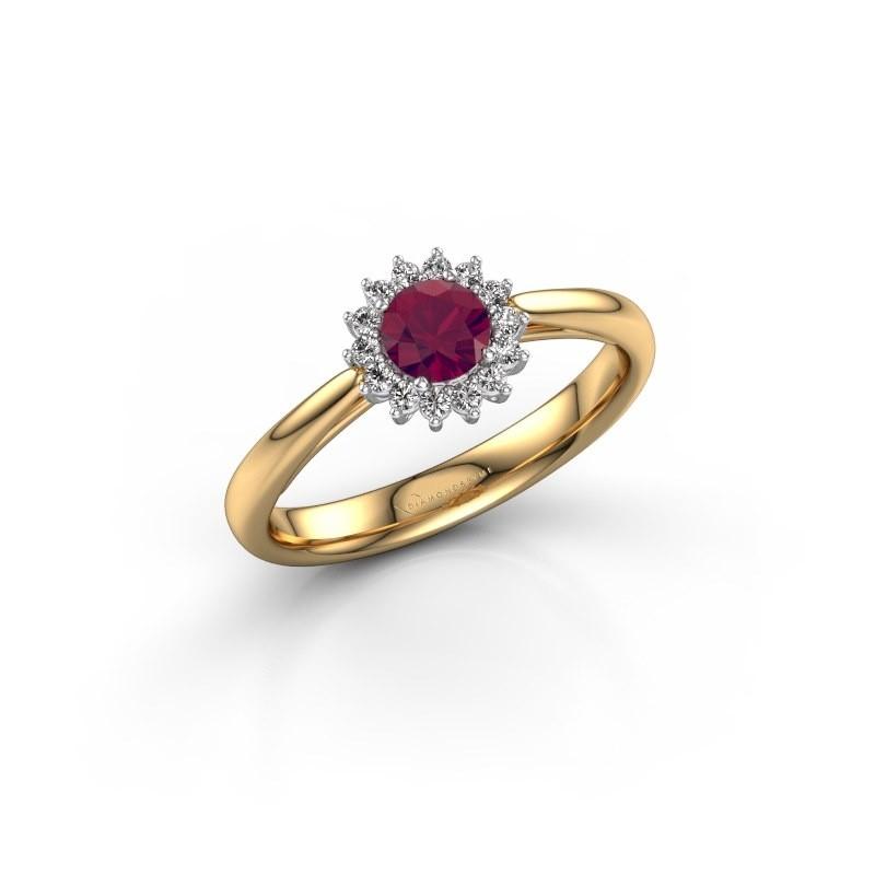 Engagement ring Tilly RND 1 585 gold rhodolite 4.2 mm