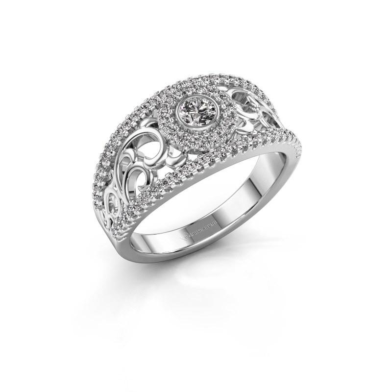 Verlovingsring Lavona 950 platina diamant 0.50 crt