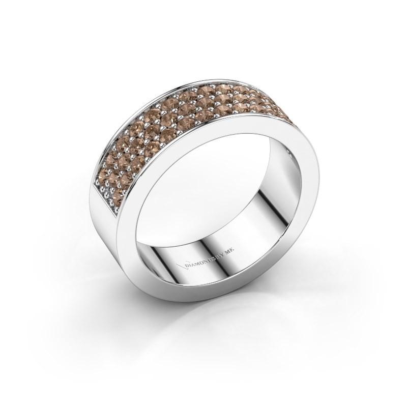 Ring Lindsey 6 950 platinum brown diamond 0.82 crt