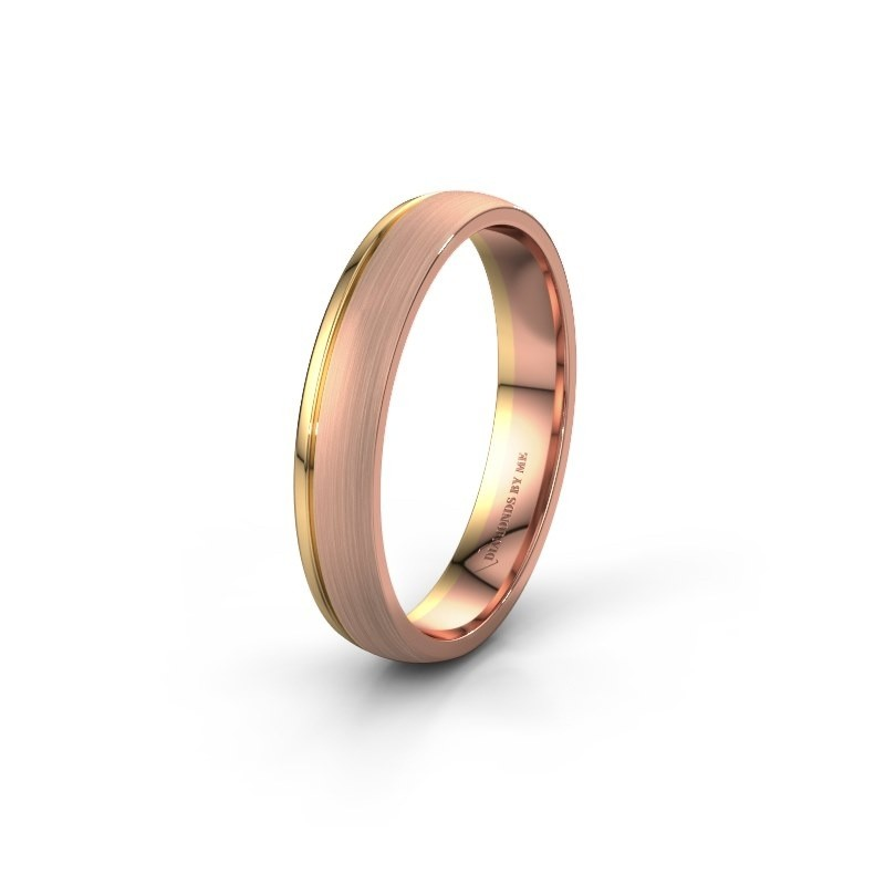 Wedding ring WH0334M24X 585 rose gold ±4x1.5 mm